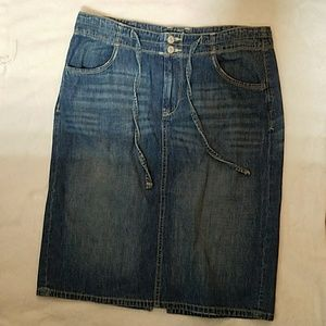 Old Navy Blue Jean Skirt Size 8 Tall